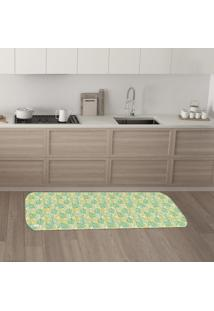 Tapete De Cozinha Mdecore Folhas Verde 40X120Cm