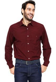 Camisa Polo Play Reta Fio 100 Vinho
