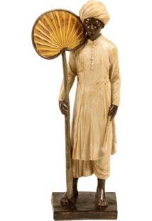Escultura Decorativa De Resina Indiano Gopan