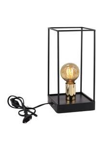 Luminária De Mesa Preto E Dourado 127V