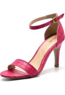 Sandália Salto Alto Flor Da Pele 1725 Pink