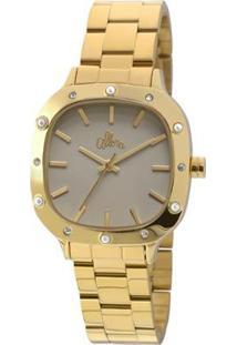 Relógio Allora Flor Da Pérola Madrepérola - Alpc21Ah/4C Alpc21Ah/4C - Feminino-Dourado