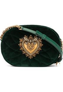 Dolce & Gabbana Bolsa Transversal Devotion - Verde