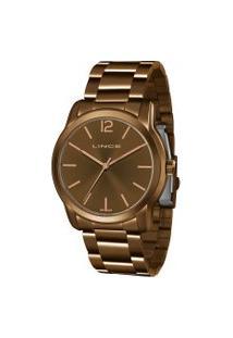 Relógio Analógico Lince Feminino - Lrb4449L N2Nx Marrom