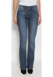 Jeans Boot Cut Western Estonado - Azul Escurowrangler