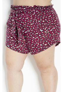 Short Onça Pink Clochard Plus Size