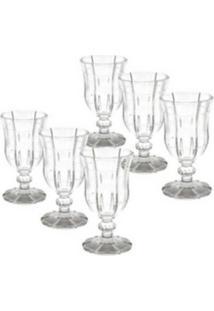 Conjunto 6 Taças De Vidro Transparente Para Vinho 260Ml Knot