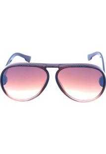 Óculos De Sol Prorider Marrom Translúcido