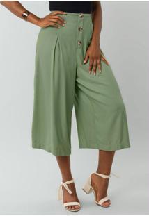 Calça Pantacourt Verde