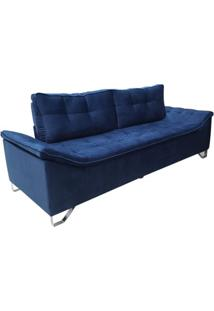 Sofá Avant - 3 Lugares - Azul Luxo