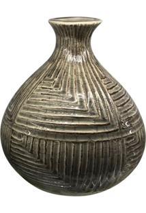 Vaso De Cerâmica Piva Marrom Kasa Ideia