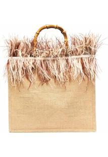 La Milanesa Fringe-Detail Shoulder Bag - Neutro
