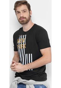 Camiseta Calvin Klein Gola Careca Ny Masculina - Masculino