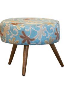 Puff Lymdecor Decorativo Angel Suede 50X25X50 Azul