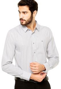 Camisa Calvin Klein Jeans Listras Branco