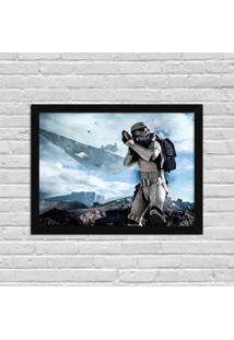 Quadro Decorativo Gamer Stormtrooper Preto - Médio