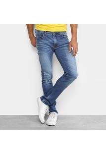 Calça Jeans Skinny Colcci Felipe Puídos Masculina - Masculino