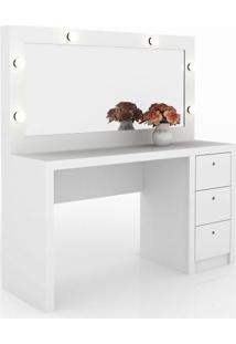 Penteadeira Com Espelho Branca Pe2001 Tecno Mobili