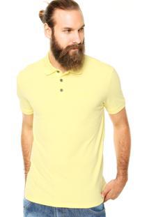 Camisa Polo Calvin Klein Jeans Logo Amarela