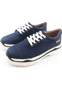 Tênis Chunky Quality Shoes Feminino Jeans Escuro 34