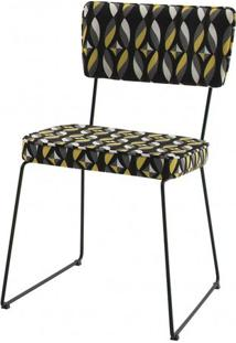 Cadeira Milan Estampa Geo Sal Base Preta - 49679 - Sun House