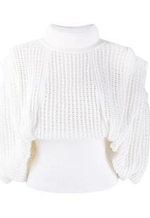 Givenchy Blusa Com Tela - Branco