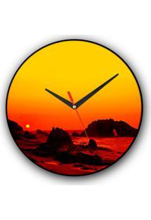 Relógio De Parede Colours Creative Photo Decor Decorativo, Criativo E Diferente - Panorâmica De Jericoacoara