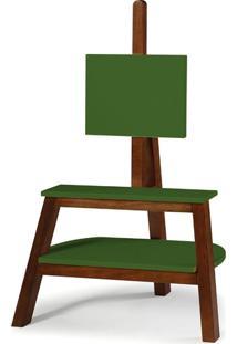 Rack Com Painel Bowie Maxima Cacau/Verde Musgo