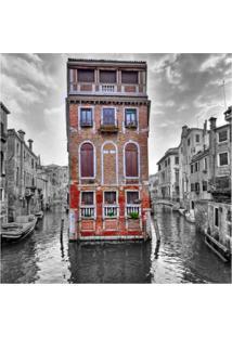 Placa Decorativa Veneza 25X25 Cm Preto