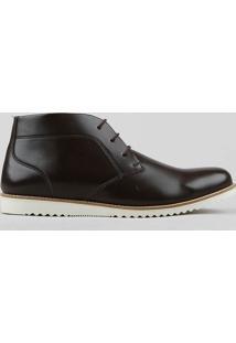 Sapato Masculino Cano Alto Marrom Escuro