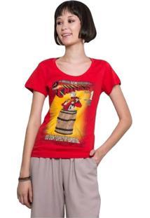 Camiseta Feminina Polegar Vermelho Geek10 - Vermelho