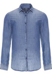 Camisa Masculina Jeans Basic - Azul