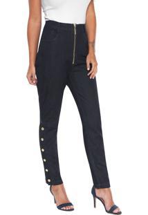 76c5504004 ... Calça Jeans Lança Perfume Slim Zíper Azul-Marinho