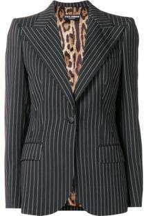 Dolce & Gabbana Blazer Risca De Giz - Preto