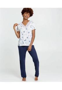 Conjunto De Pijama Marisa Estampa Floral Feminino - Feminino