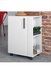 Armário De Cozinha 1 Porta Bmu130 Branco - Brv Móveis