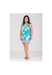 Vestido Blusê Em Tecido Com Elastano Talento - Plus Size Verde