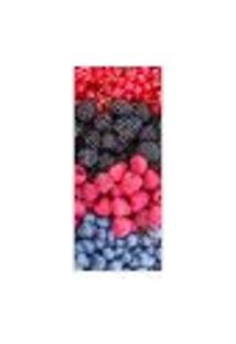 Adesivo Decorativo De Porta - Frutas Vermelhas - 380Cnpt Auto Colante