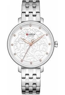 Relógio Curren Analógico C9046L Feminino - Feminino-Prata