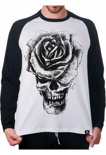 Camiseta Artseries Raglan Caveira Masculina - Masculino