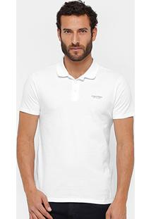 Camisa Polo Calvin Klein Malha Elastano Masculina - Masculino