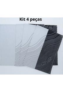 Kit De 4 Pc. Jogo Americano Guiness Jaquarde 100% Algodã£O 35X47 Cm - Cinza/Preto - Dafiti