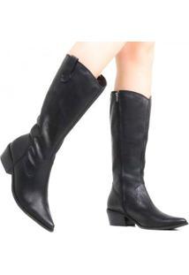 Bota Zariff Shoes Montaria Couro Western Feminina - Feminino