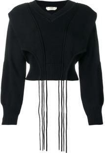 Fendi Suéter Cropped - Azul
