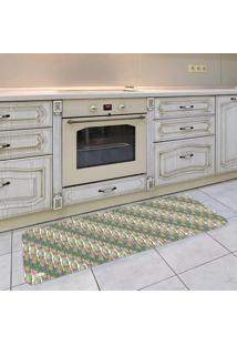 Tapete De Cozinha Mdecore Cactos Colorido 40X120Cm