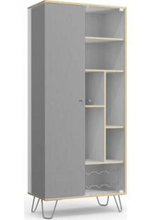 Cristaleira Kappesberg Pop Po600-B1 2 Portas Branco/Cinza Se