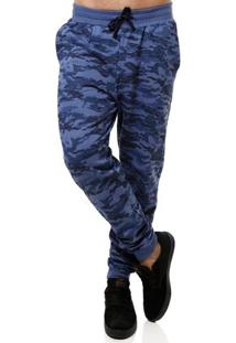 Calça Moletom Masculina Azul