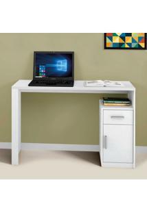 Escrivaninha 1 Porta 1 Gaveta Luminus Mavaular Branco