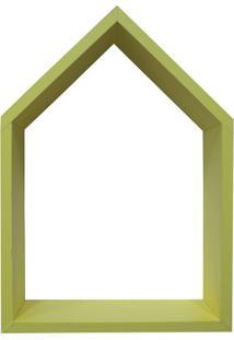 Nicho Home Sweet Home- Amarelo- 33X48X11Cm- Kapokapos