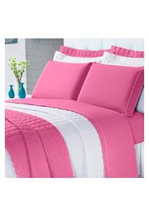Cobre Leito Montreal Casal Queen 3 Peças 100% Algodáo 150 Fios Pink